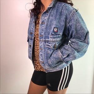 Vintage 80's 90's Tapered Denim Jean Jacket